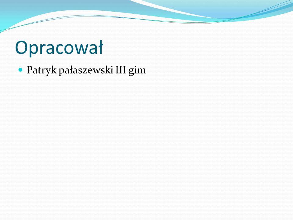 Opracował Patryk pałaszewski III gim