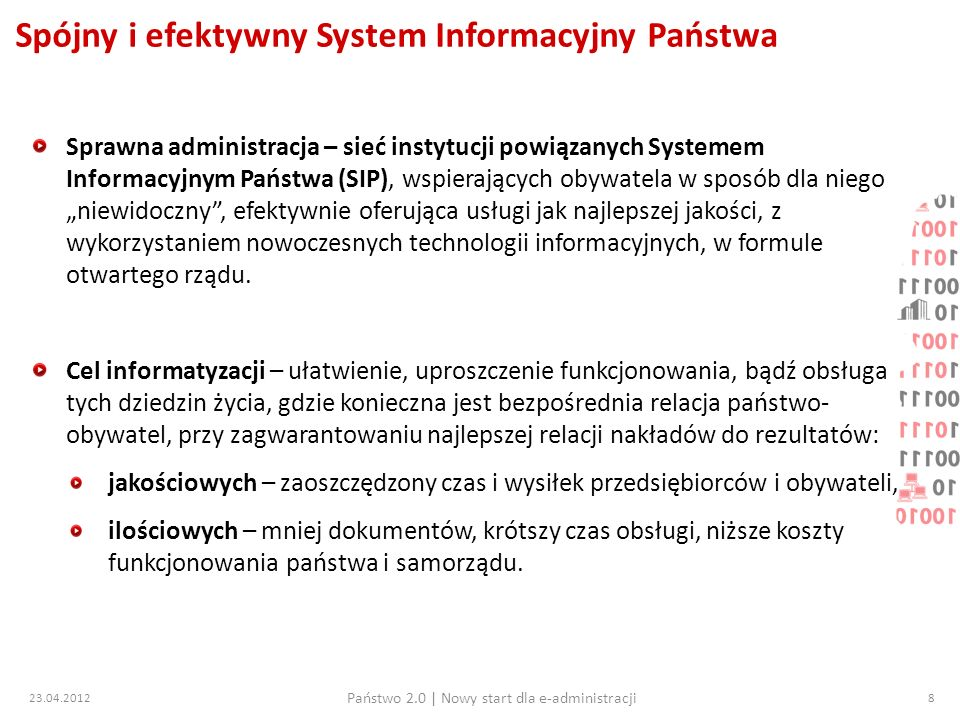 23.04.2012 Państwo 2.0   Nowy start dla e-administracji 19 Projekt pl.ID – co dalej.