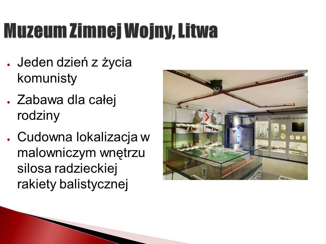 Muzeum Zimnej Wojny, Litwa Jeden dzień z życia komunisty Zabawa dla całej rodziny Cudowna lokalizacja w malowniczym wnętrzu silosa radzieckiej rakiety