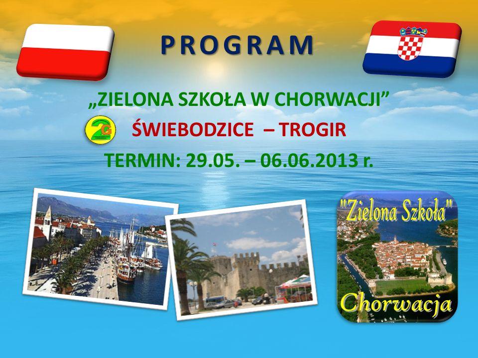 1 DZIEŃ wyjazd o godzinie 16.00 ze Świebodzic nocny przejazd przez Czechy, Austrię i Słowenię.