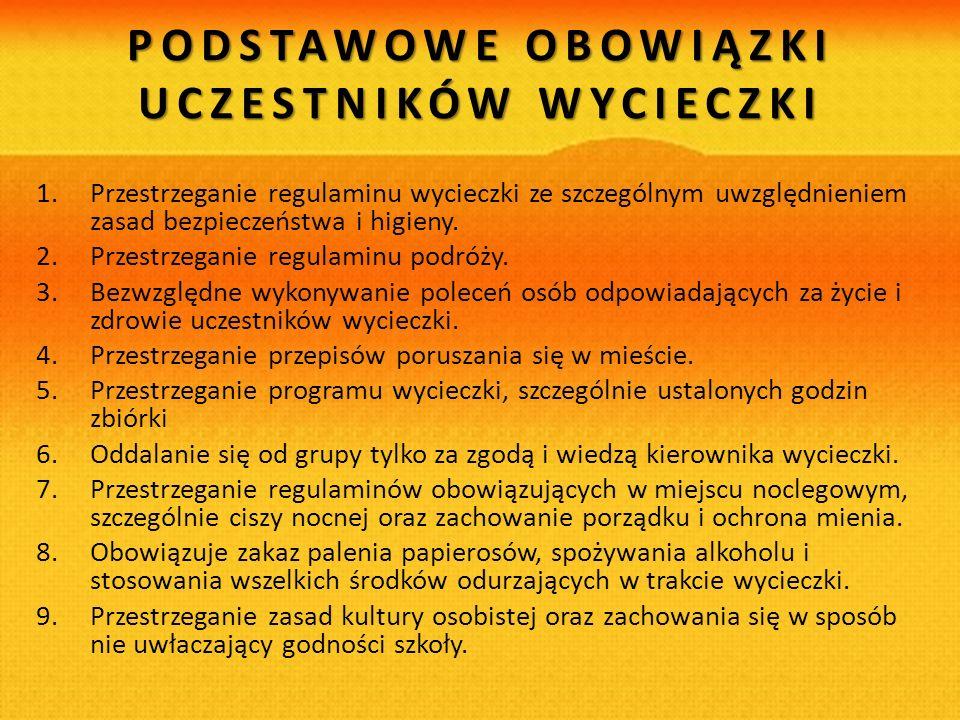 PROGRAM ZIELONA SZKOŁA W CHORWACJI ŚWIEBODZICE – TROGIR TERMIN: 29.05. – 06.06.2013 r.