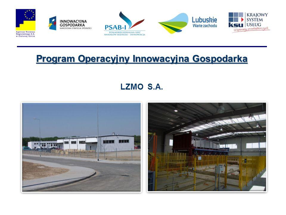 Program Operacyjny Innowacyjna Gospodarka LZMO S.A.
