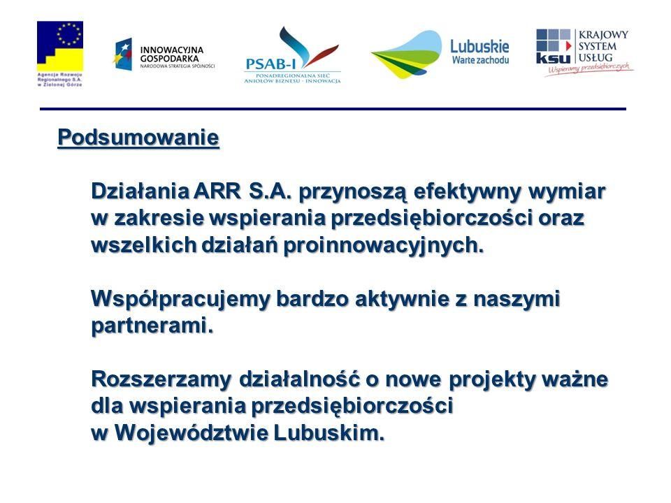 Podsumowanie Działania ARR S.A.