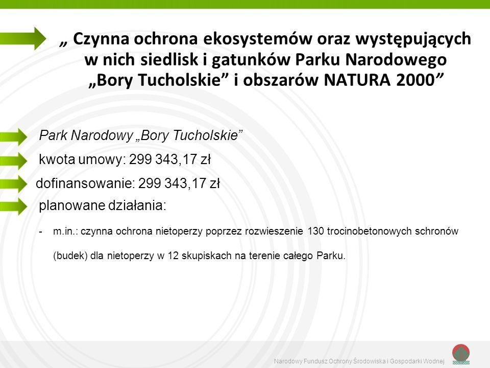 Narodowy Fundusz Ochrony Środowiska i Gospodarki Wodnej Czynna ochrona ekosystemów oraz występujących w nich siedlisk i gatunków Parku Narodowego Bory