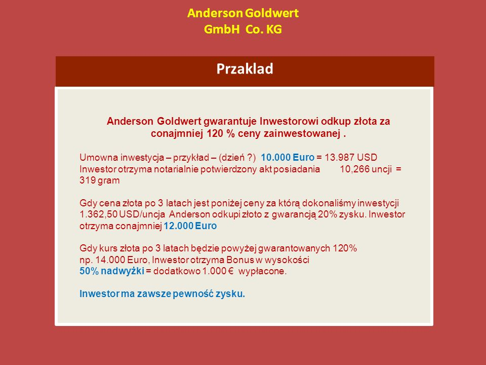 Anderson Goldwert GmbH Co.