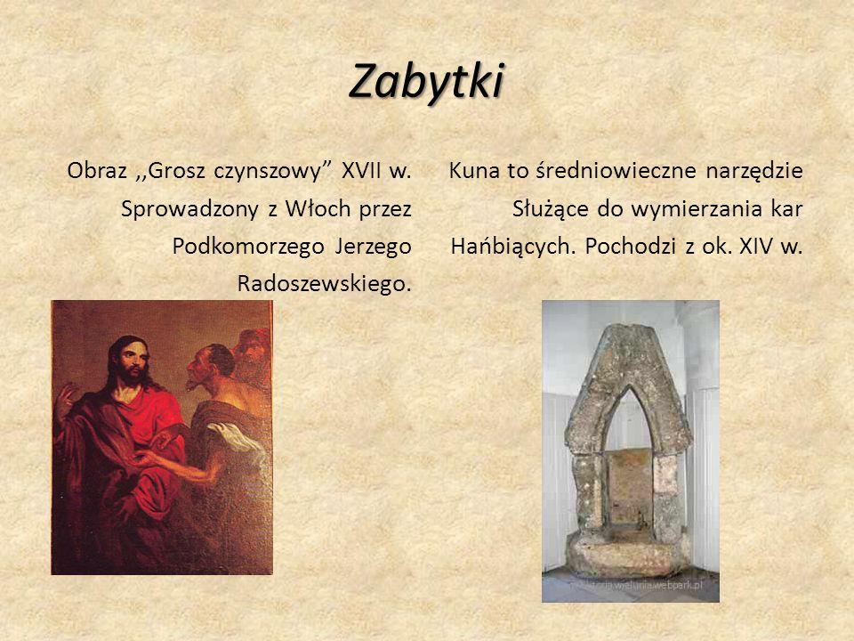 Zabytki Obraz,,Grosz czynszowy XVII w.