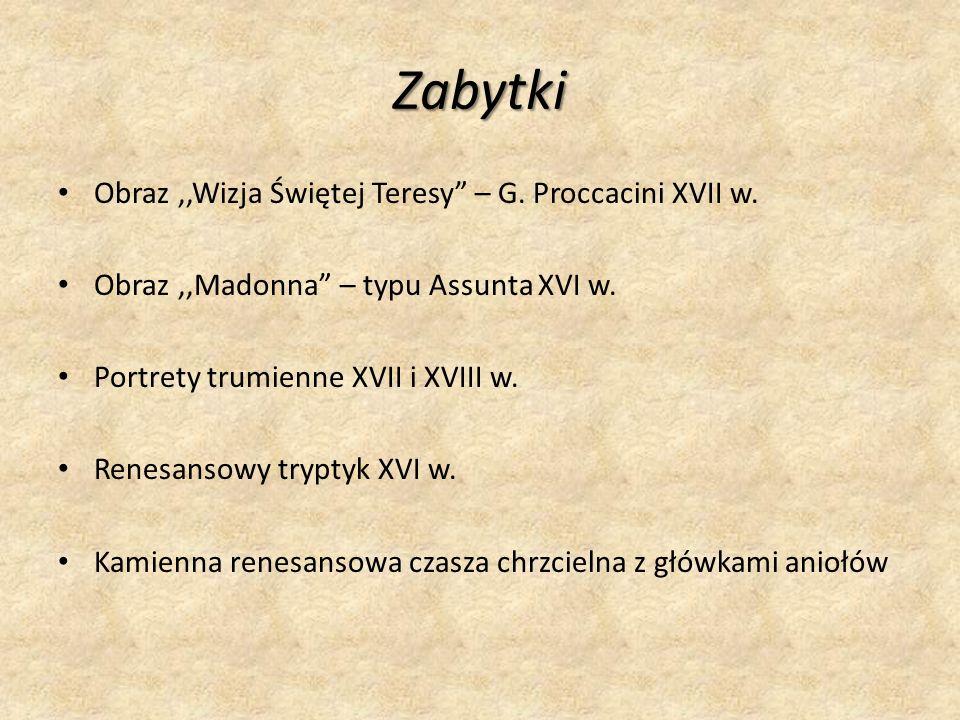 Zabytki Obraz,,Wizja Świętej Teresy – G.Proccacini XVII w.