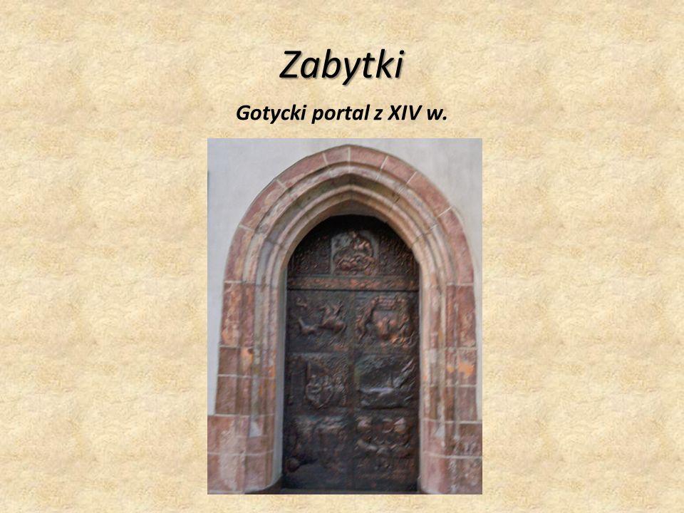 Zabytki Gotycki portal z XIV w.