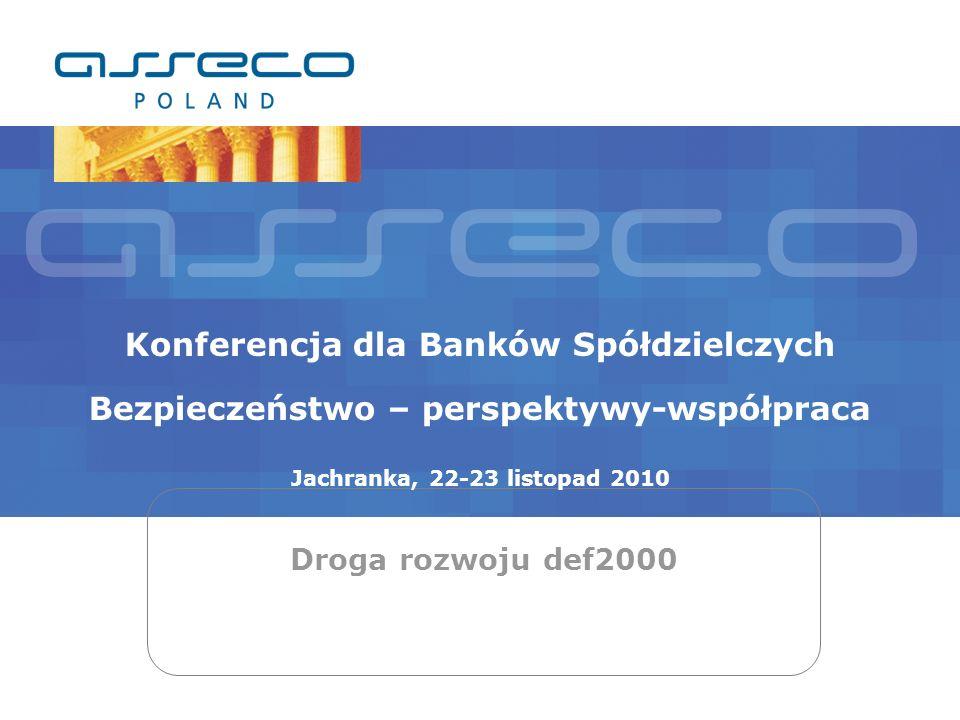 Droga rozwoju def2000 Wybrane elementy def2000 def3000/AML – Przeciwdziałanie praniu pieniędzy