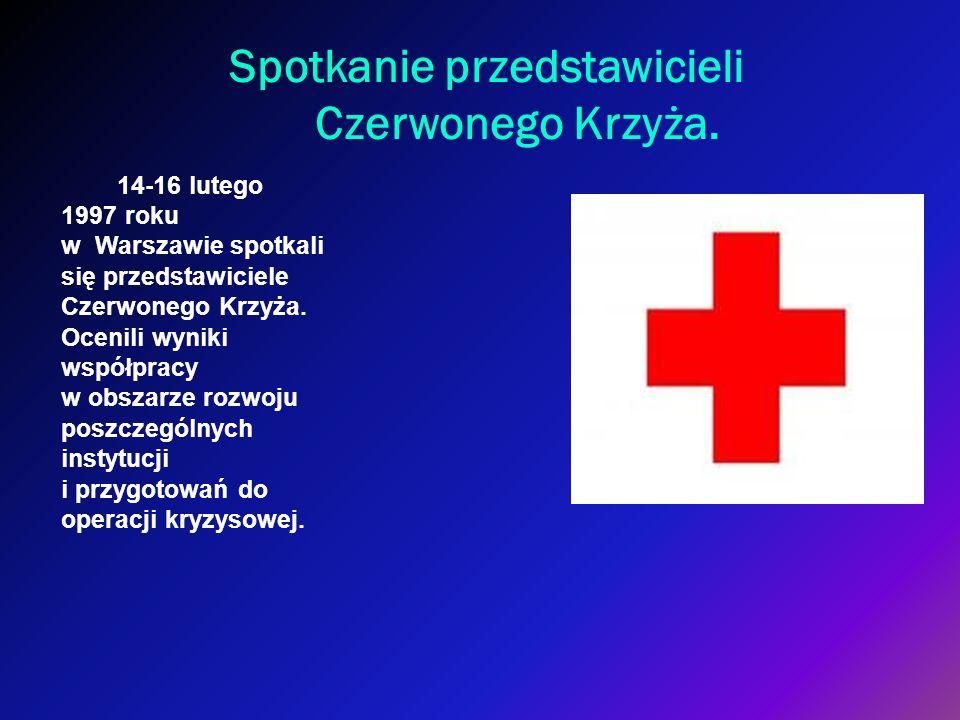 Spotkanie przedstawicieli Czerwonego Krzyża. 14-16 lutego 1997 roku w Warszawie spotkali się przedstawiciele Czerwonego Krzyża. Ocenili wyniki współpr