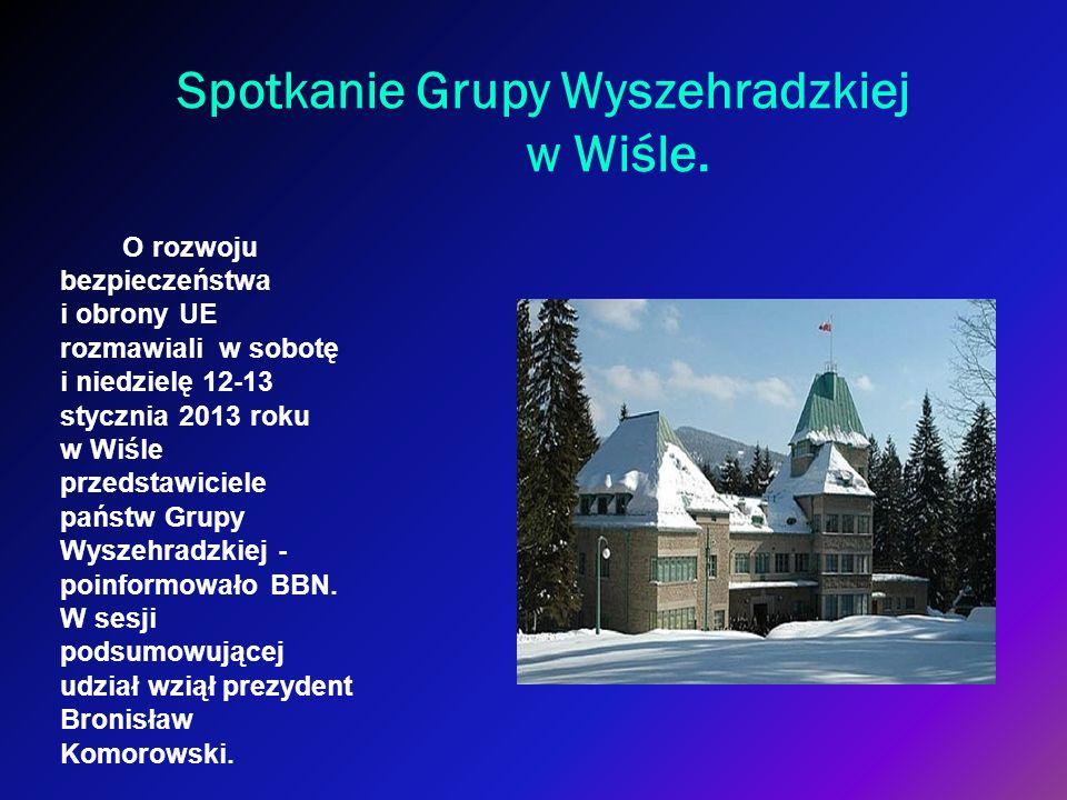 Spotkanie Grupy Wyszehradzkiej w Wiśle. O rozwoju bezpieczeństwa i obrony UE rozmawiali w sobotę i niedzielę 12-13 stycznia 2013 roku w Wiśle przedsta