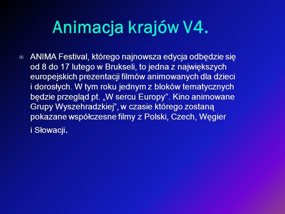 Animacja krajów V4. ANIMA Festival, którego najnowsza edycja odbędzie się od 8 do 17 lutego w Brukseli, to jedna z największych europejskich prezentac