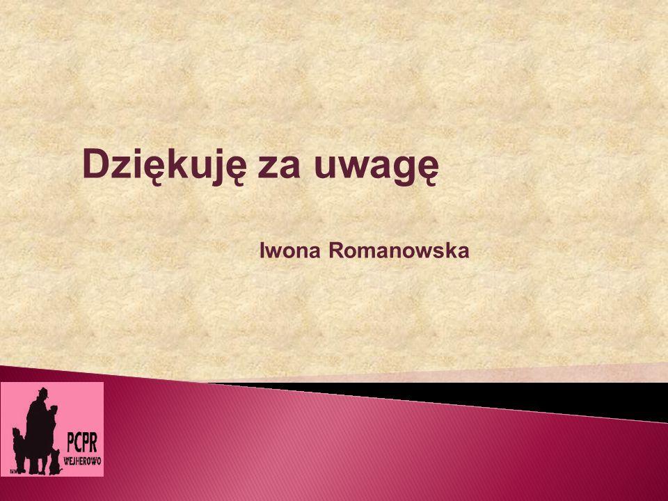 Dziękuję za uwagę Iwona Romanowska