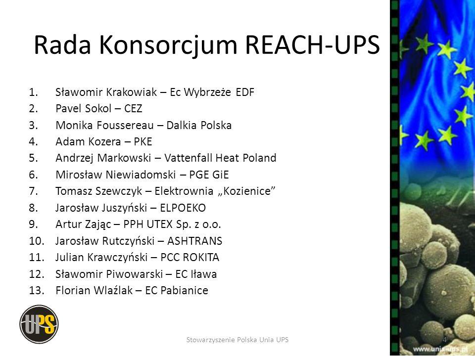 Rada Konsorcjum REACH-UPS 1.Sławomir Krakowiak – Ec Wybrzeże EDF 2.Pavel Sokol – CEZ 3.Monika Foussereau – Dalkia Polska 4.Adam Kozera – PKE 5.Andrzej