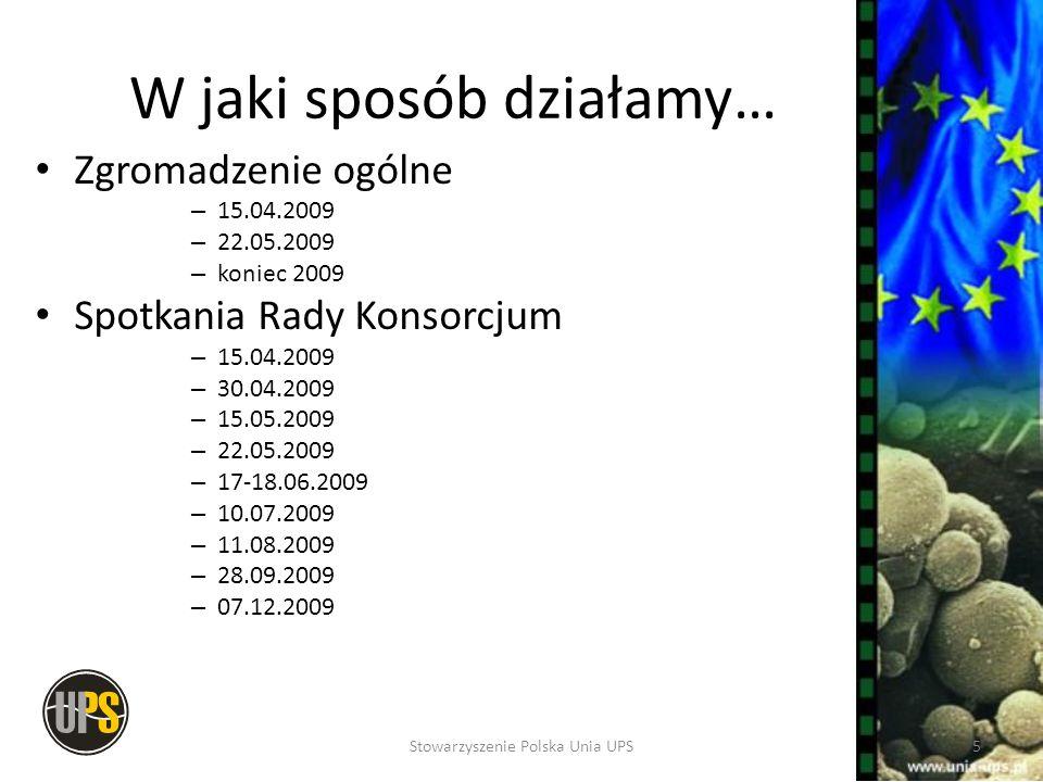 Koszty REACH dla Członków Konsorcjum Koszty administracyjne funkcjonowania Konsorcjum Koszty badań i opracowania dossier Koszty dodatkowe związane z późniejszym przystąpieniem do Konsorcjum (opłata dodatkowa + zwiększony udział w dotychczasowych kosztach) 16Stowarzyszenie Polska Unia UPS