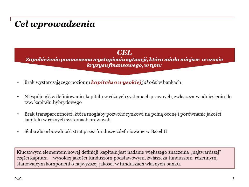 PwC Jakie konsekwencje przynosi Bazylea III dla banków.