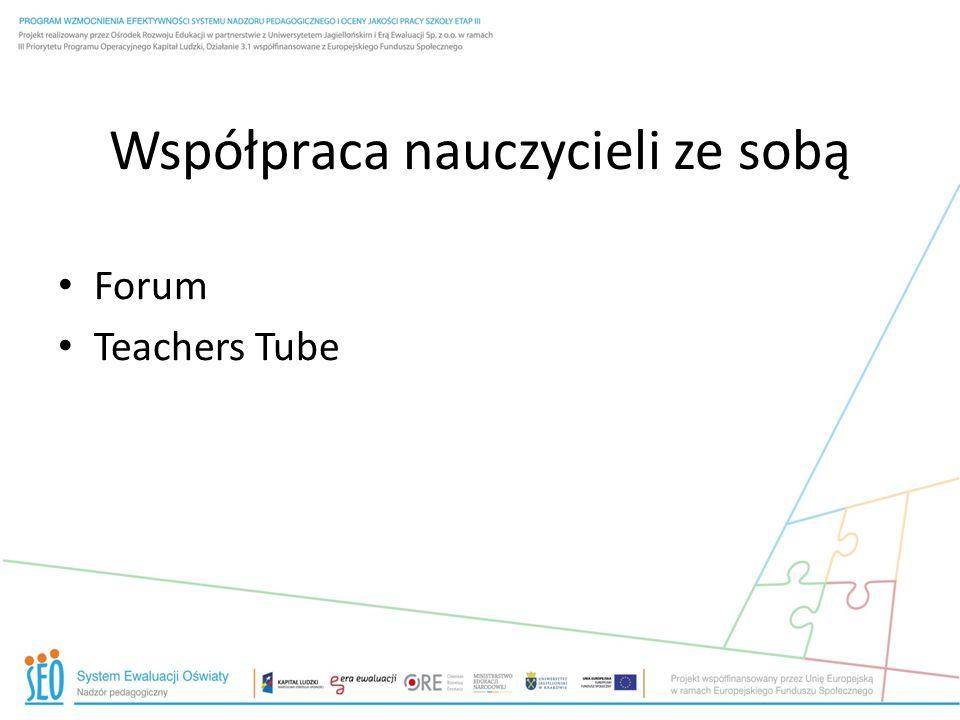 Współpraca nauczycieli ze sobą Forum Teachers Tube