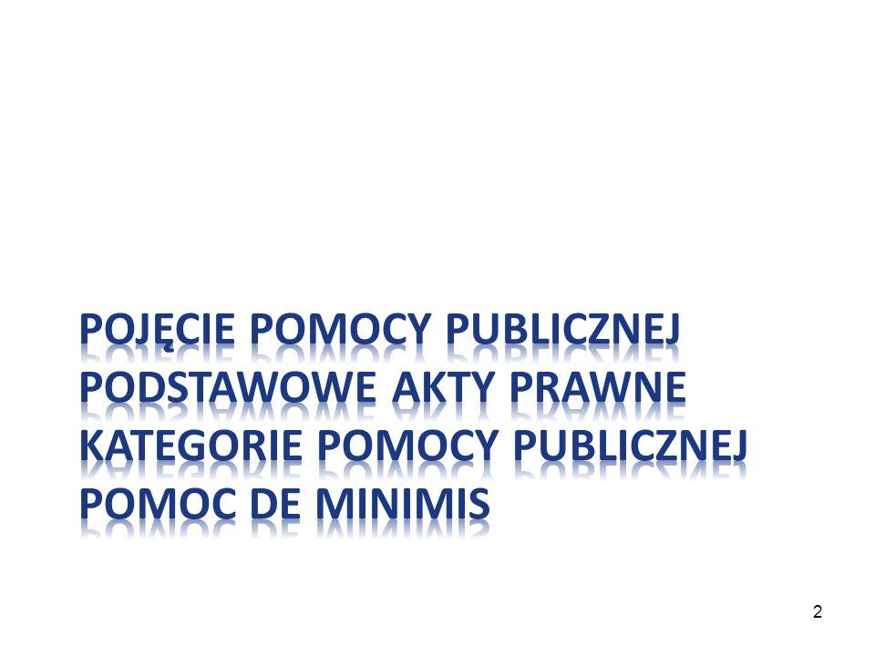 Występowanie pomocy publicznej w ramach Priorytetu VI PO KL: II.