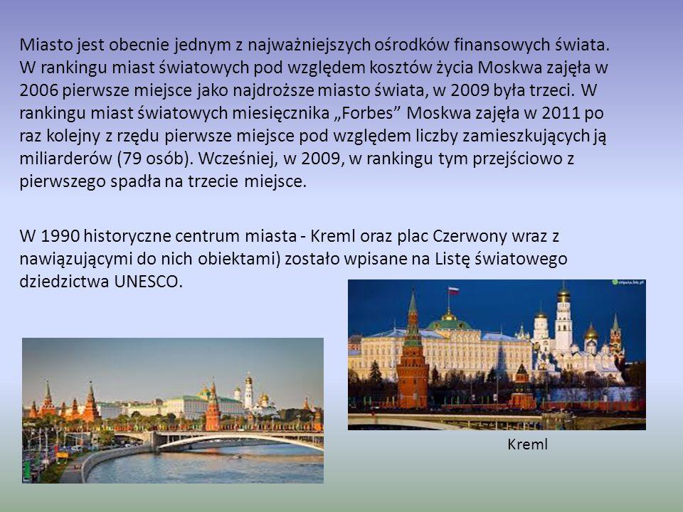 Moskwa Stolica Rosji i największe miasto tego kraju.