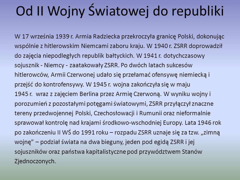 Rewolucje i ZSRR Niepokoje społeczne doprowadziły do wybuchu krwawo stłumionej rewolucji w 1905 r.