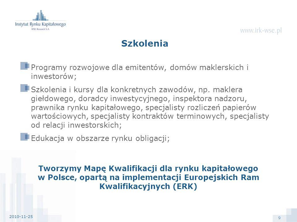 10 Konferencje Współdziałanie w ramach Grupy Kapitałowej GPW, np.