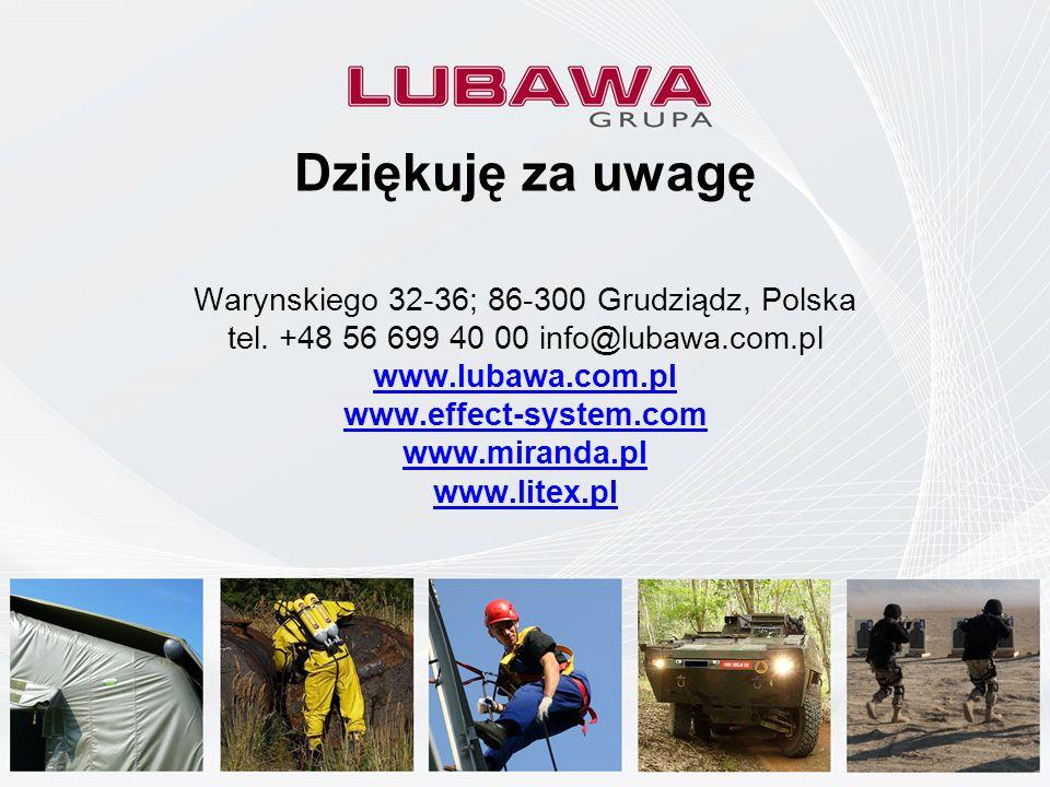 Company Presentation March 16 th 2009 Dziękuję za uwagę Warynskiego 32-36; 86-300 Grudziądz, Polska tel. +48 56 699 40 00 info@lubawa.com.pl www.lubaw