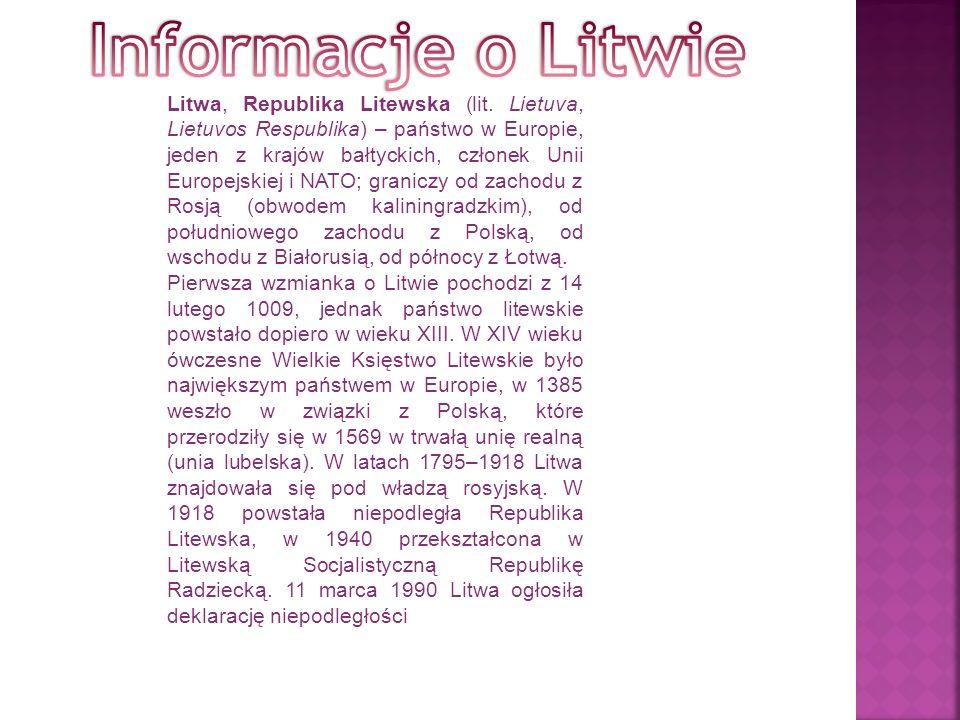 Litwa, Republika Litewska (lit.