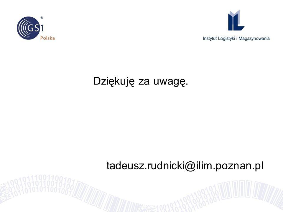 tadeusz.rudnicki@ilim.poznan.pl Dziękuję za uwagę.