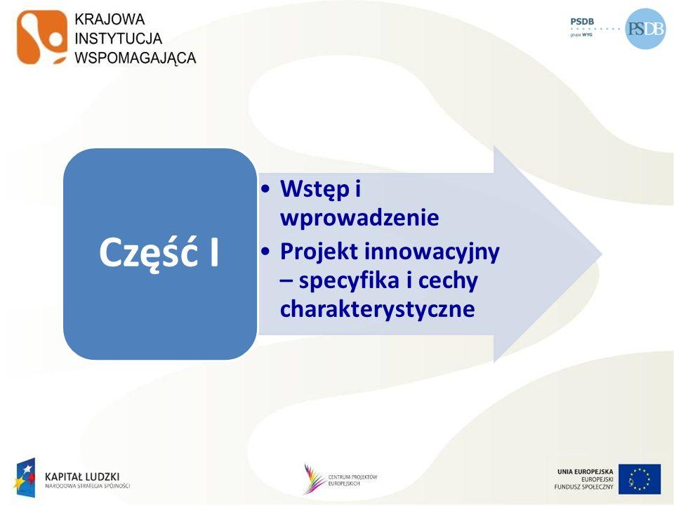 90 Strategia wdrażania projektu innowacyjnego Zakres treści Strategii wdrażania I.