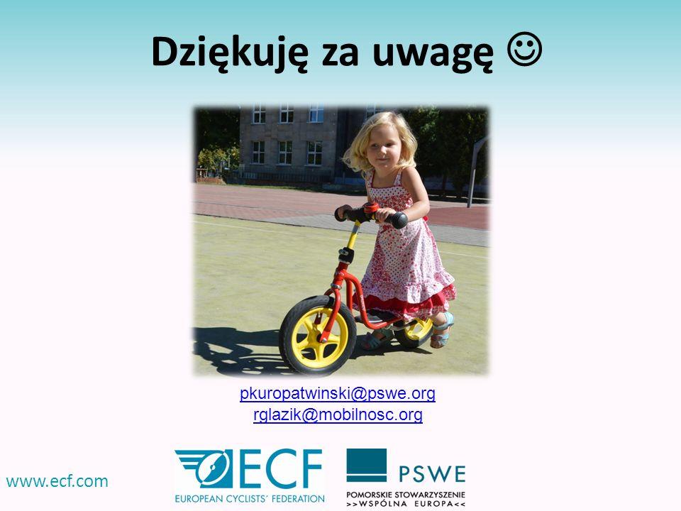 www.ecf.com Dziękuję za uwagę pkuropatwinski@pswe.org rglazik@mobilnosc.org