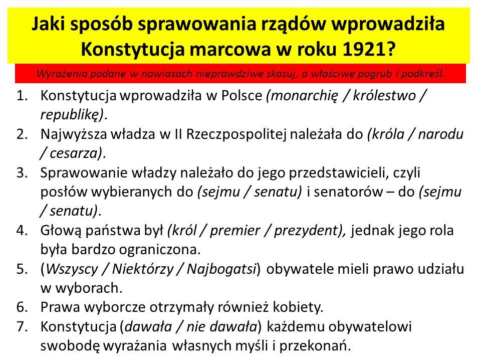 Józef Piłsudski – jego znaczenie dla II Rzeczpospolitej.