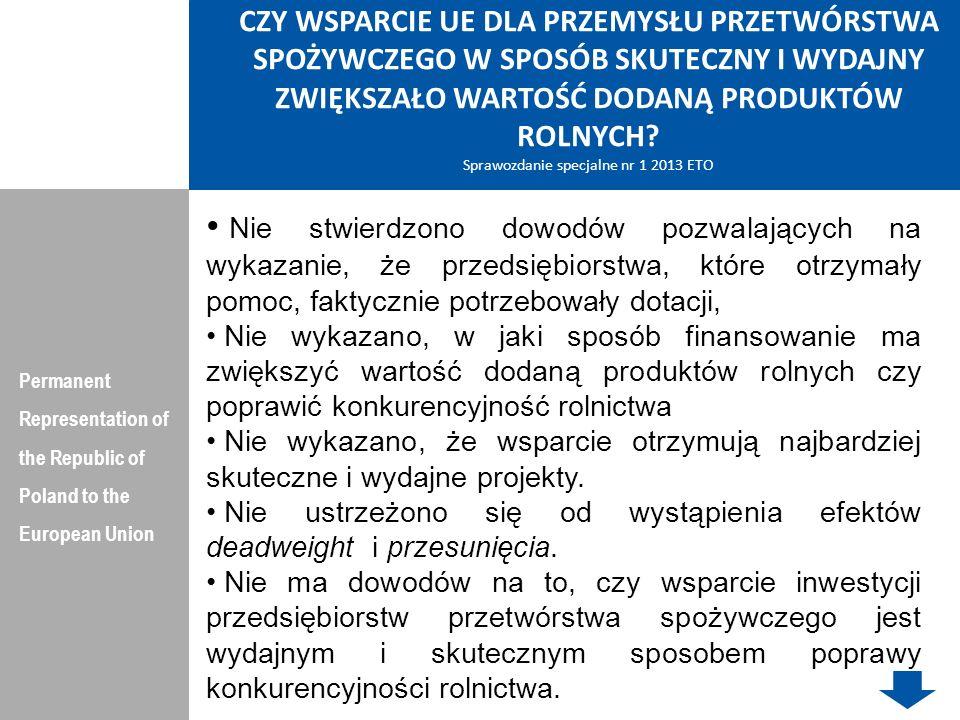 PROW Permanent Representation of the Republic of Poland to the European Union Cel ogólny PROW: Poprawa jakości życia na obszarach wiejskich oraz efektywne wykorzystanie ich zasobów i potencjałów, w tym rolnictwa i rybactwa, dla zrównoważonego rozwoju kraju.