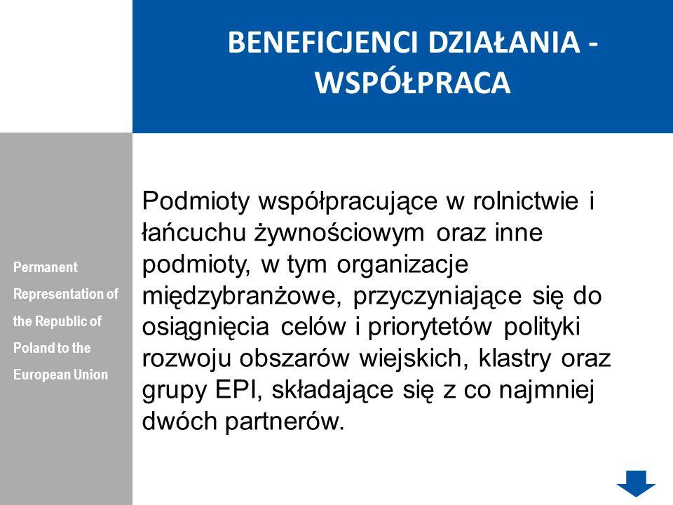 PODSUMOWANIE Permanent Representation of the Republic of Poland to the European Union W nowym okresie finansowym 2014-2020 będzie większe nastawienie na transfer innowacji z nauki do gospodarki niż na badania.