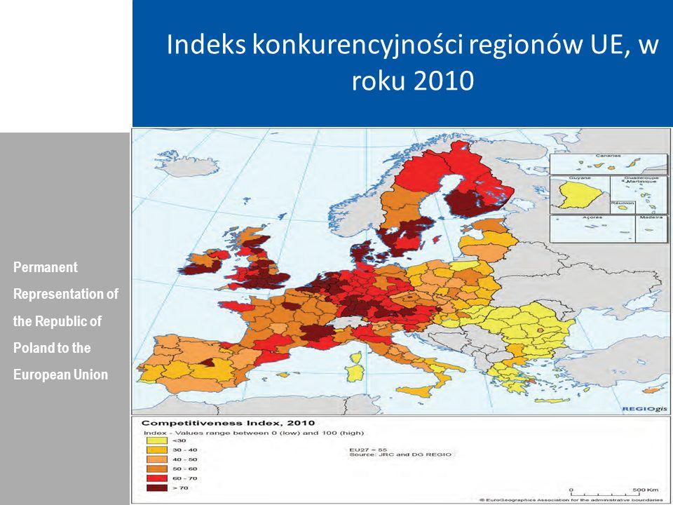 Poziom innowacyjności regionów Permanent Representation of the Republic of Poland to the European Union Dziękuję Państwu za Uwagę