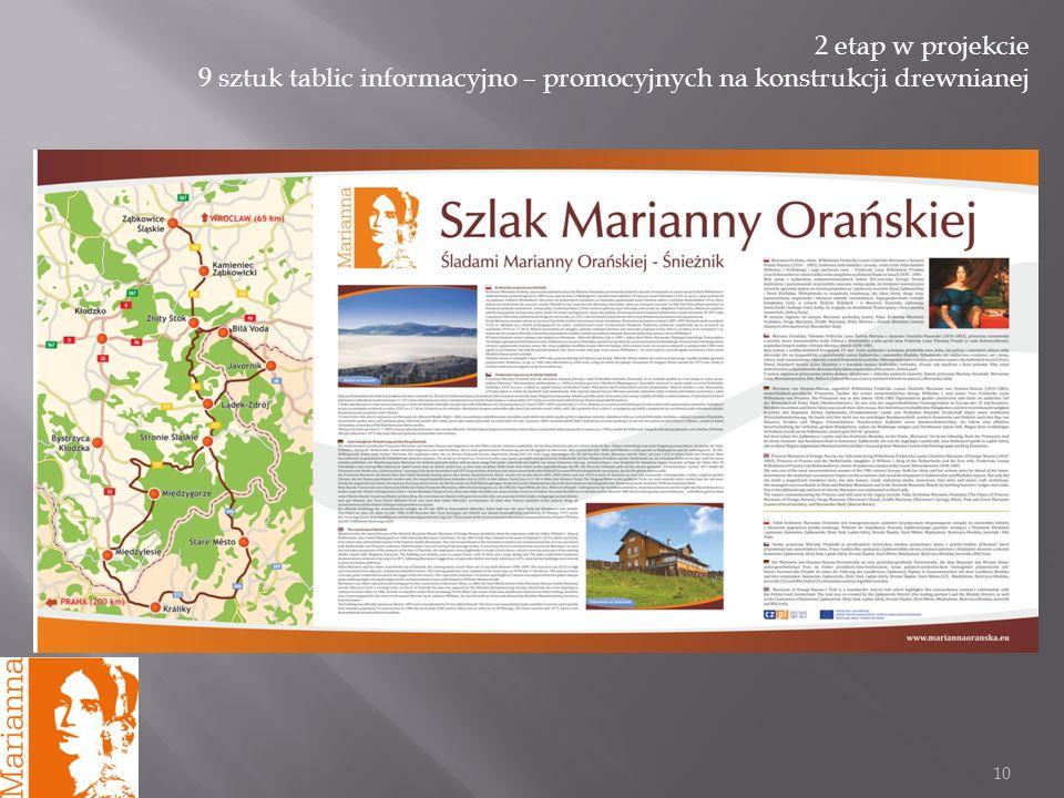 10 2 etap w projekcie 9 sztuk tablic informacyjno – promocyjnych na konstrukcji drewnianej