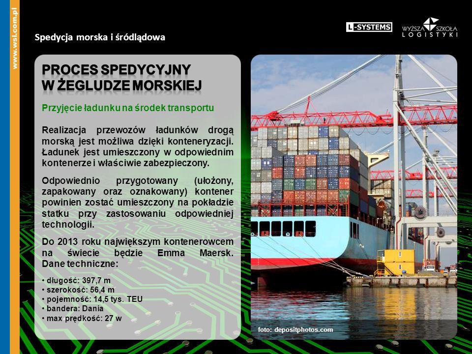 Spedycja morska i śródlądowa foto: depositphotos.com