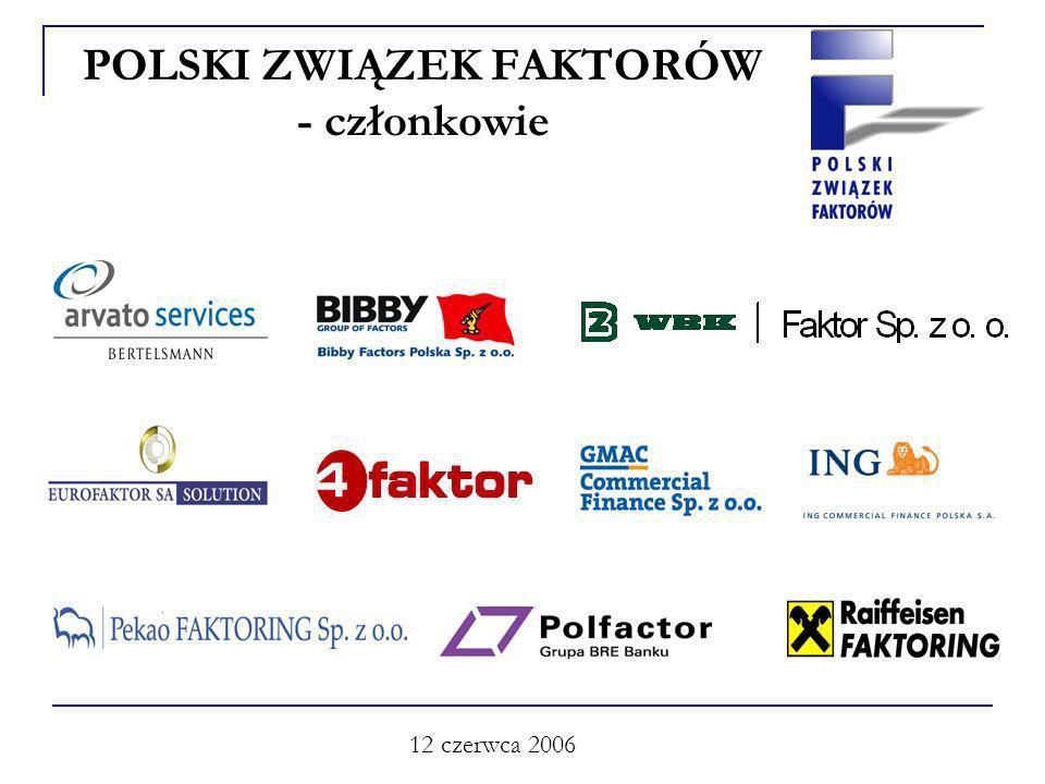 12 czerwca 2006 POLSKI ZWIĄZEK FAKTORÓW - członkowie