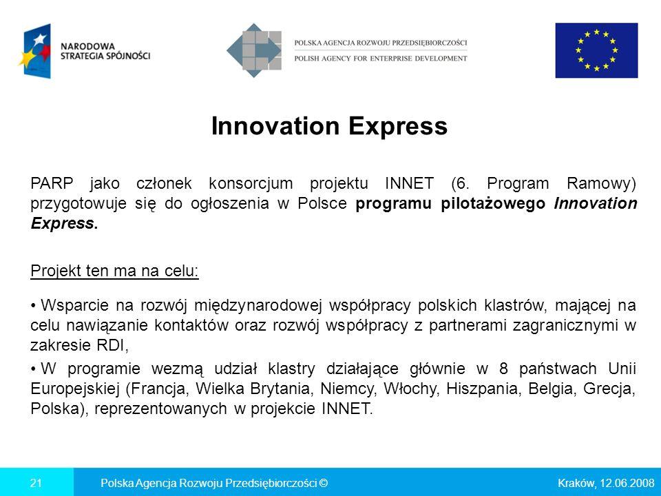Innovation Express PARP jako członek konsorcjum projektu INNET (6.