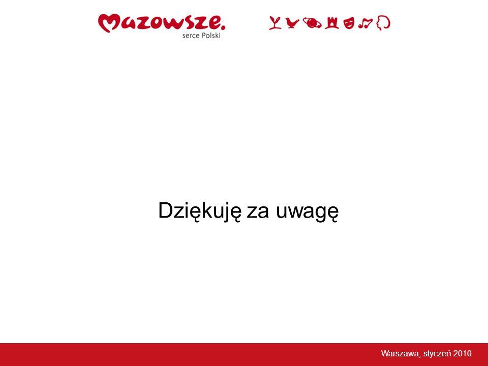 Dziękuję za uwagę Warszawa, styczeń 2010