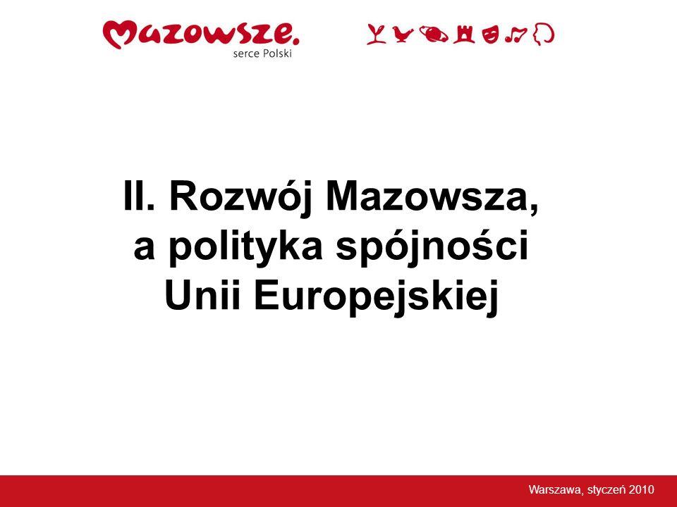 Zróżnicowanie wewnątrzregionalne Mazowsza (jedne z największych wśród Regionów Przejściowych) Warszawa, styczeń 2010