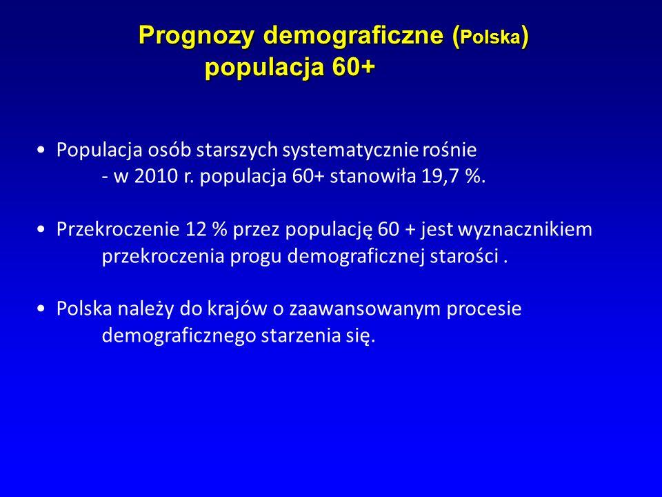Prognozy demograficzne ( Polska ) populacja 60+ Prognozy demograficzne ( Polska ) populacja 60+ Populacja osób starszych systematycznie rośnie - w 201