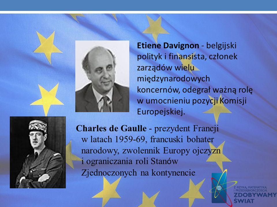 Francois Mitterrand- prezydent Francji w latach 1981 -1995, zwolennik ścisłej integracji europejskiej. Paul Henri Spaak - premier Belgii, przewodniczą