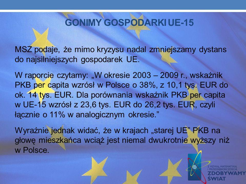 Podsumowania naszej obecności w Unii Europejskiej podjęło się Ministerstwo Spraw Zagranicznych. W przygotowanym przez resort raporcie główny nacisk po