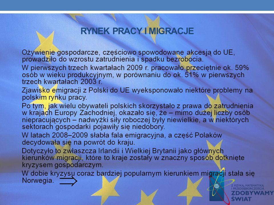 BEZPOŚREDNIE INWESTYCJE ZAGRANICZNE W 2009 roku napływ do Polski kapitału z tytułu bezpośrednich inwestycji zagranicznych wyniósł 8 384 mln EUR. W dob
