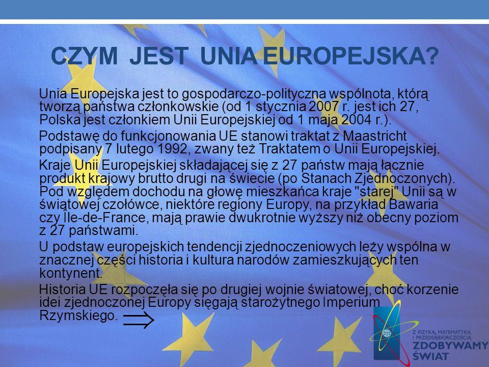 CZYM JEST UNIA EUROPEJSKA.