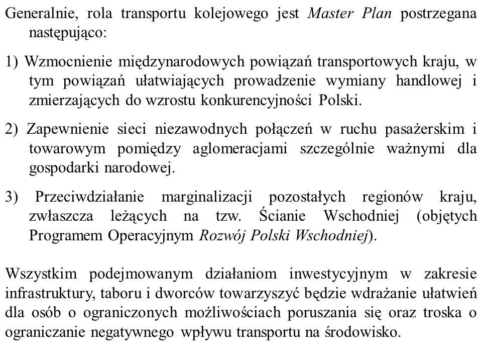 Planowane efekty realizacji inwestycji infrastrukturalnych przewidzianych w Master Planie