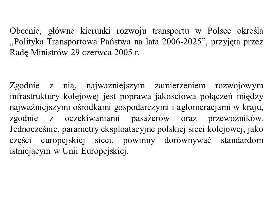 Realizowany w Polsce szeroko rozumiany program modernizacji infrastruktury kolejowej uwzględnia na poziomie międzynarodowym przede wszystkim ustalenia II i III Paneuropejskiej Konferencji Ministrów Transportu (Kreta 1994r.