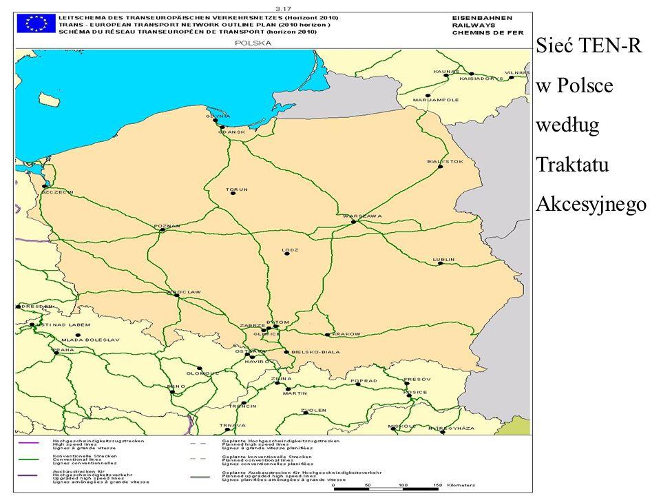 Sieć TEN-R w Polsce według Traktatu Akcesyjnego
