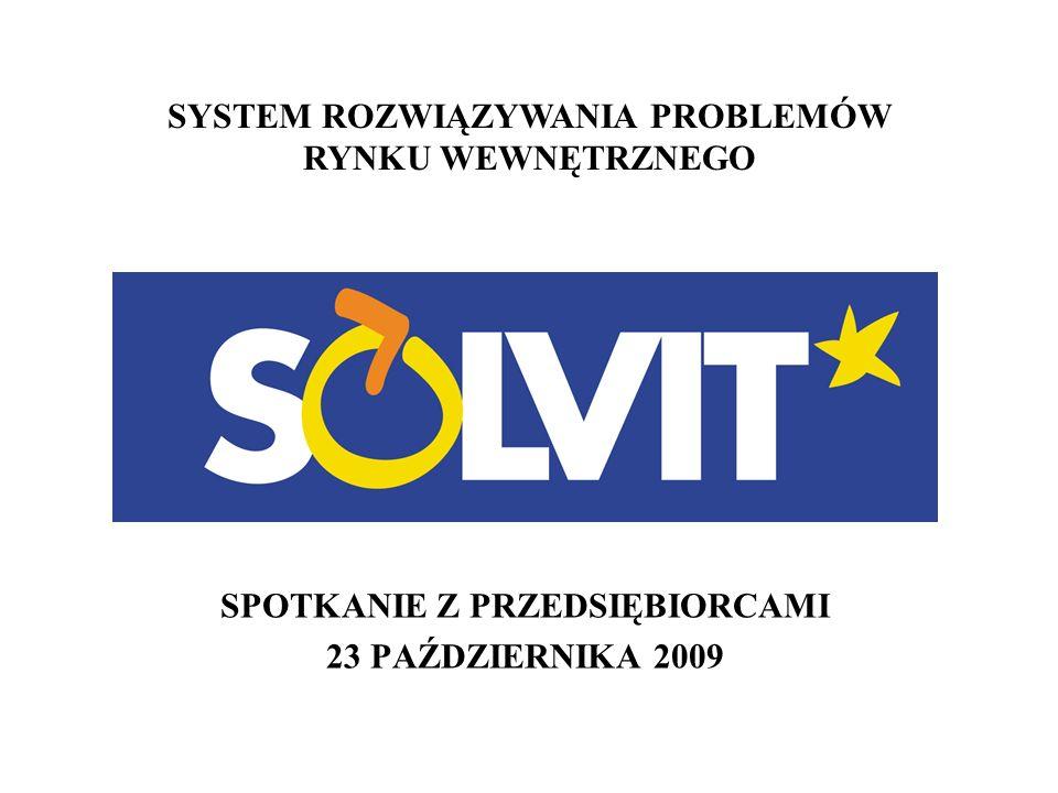 SYSTEM ROZWIĄZYWANIA PROBLEMÓW RYNKU WEWNĘTRZNEGO SPOTKANIE Z PRZEDSIĘBIORCAMI 23 PAŹDZIERNIKA 2009