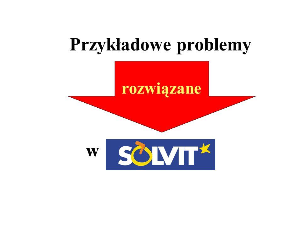 rozwiązane Przykładowe problemy w